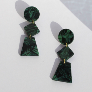Lupinus Marble Green Earrings
