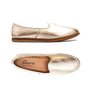 Charix Flats in Gold