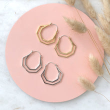 Load image into Gallery viewer, Hera Hoops (silver & gold)