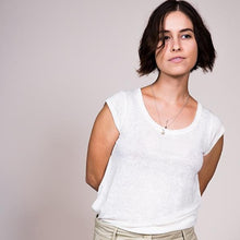 Load image into Gallery viewer, Undyed Linen Tee