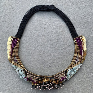 Mia Embroidered Necklace