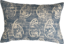 Load image into Gallery viewer, Denim Paisley Throw Pillow