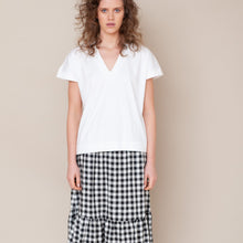 Load image into Gallery viewer, Linen Gingham Skirt (Sizes M, L)