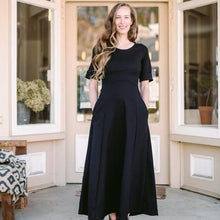 Load image into Gallery viewer, Black Linen Maxi Dress