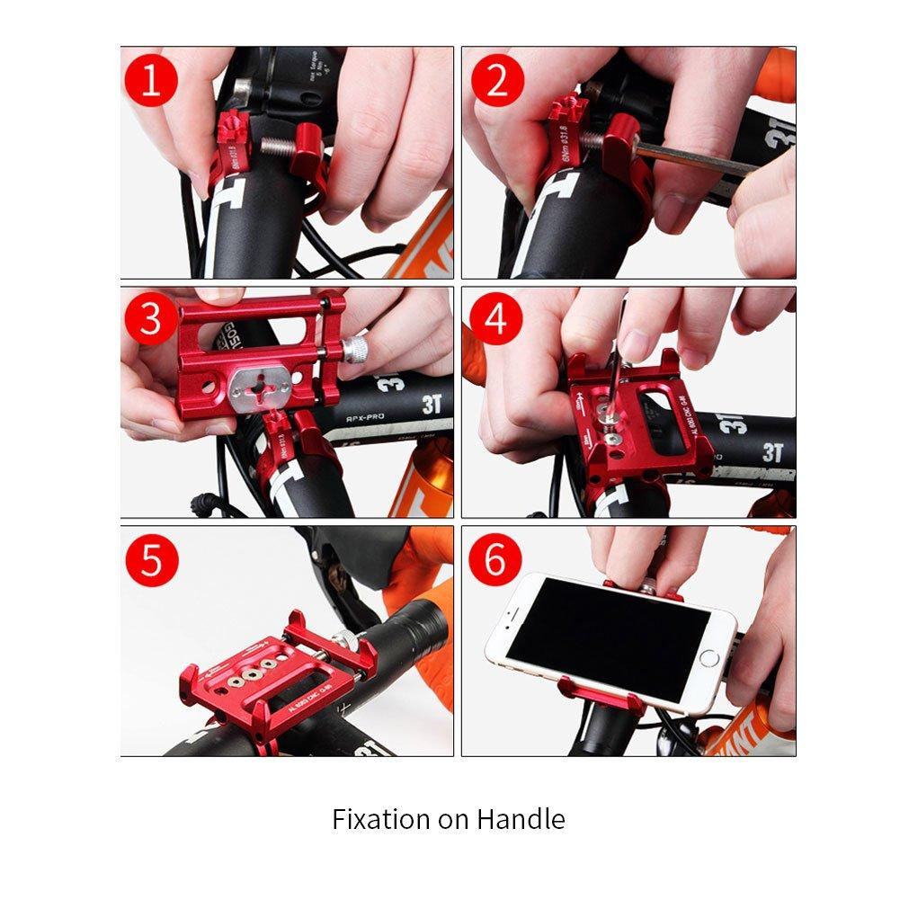 Aluminum Alloy Mobile Phone Bike Mount