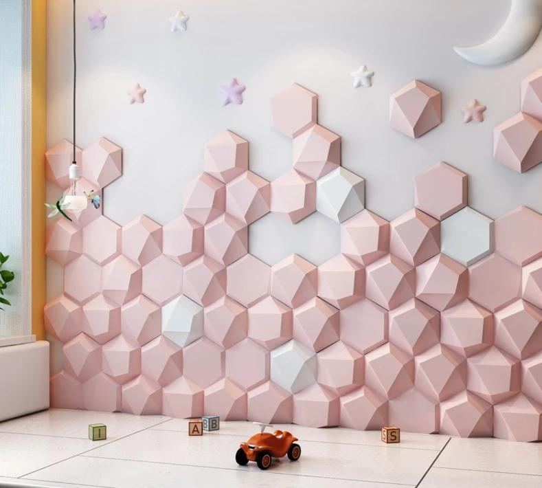 Self-Adhesive 3D Solid Wall Stickers
