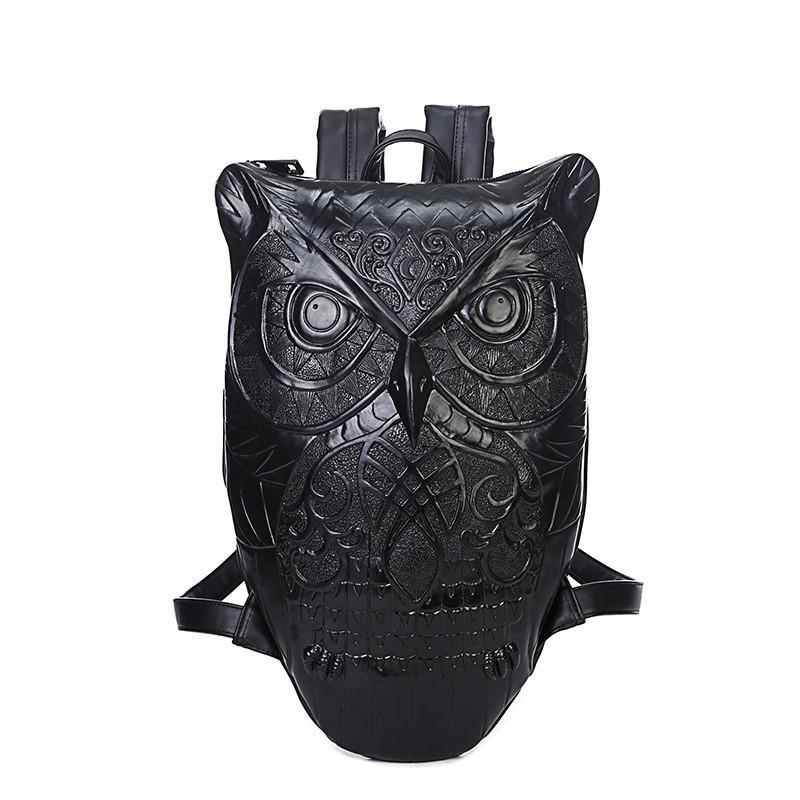 Stylish Synthetic Leather Owl Backpack