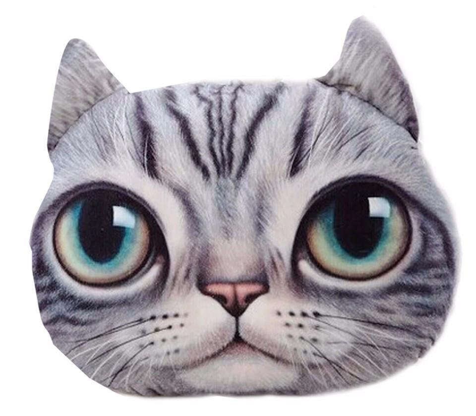 Cartoon Cat 3D Printed Pillow Covers