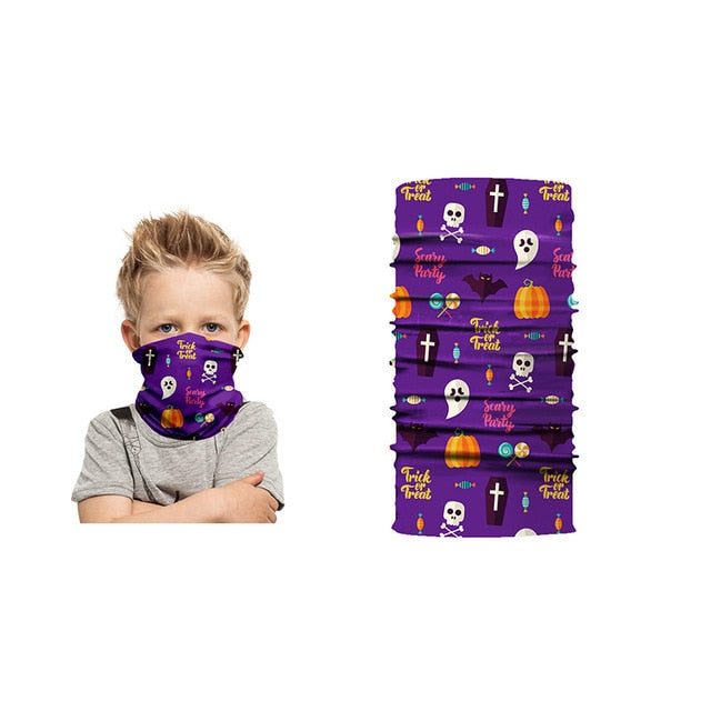 Kids Halloween Digital Print Bandana
