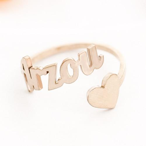 Adjustable Personalized Name Ring