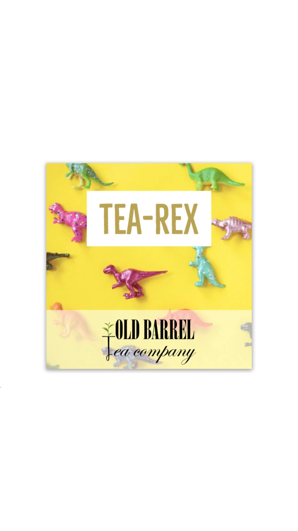 Tea-Rex Sticker
