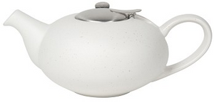 Pebble 4-Cup White Flecks Teapot