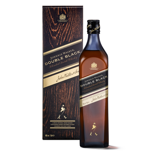 JOHNNIE WALKER DOUBLE BLACK WITH GIFT BOX 70CL