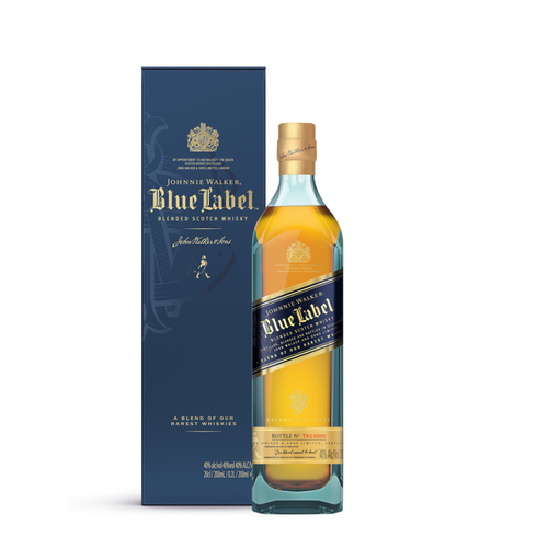 JOHNNIE WALKER BLUE LABEL WITH GIFT BOX 20CL