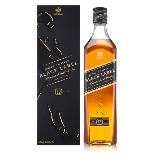 JOHNNIE WALKER BLACK LABEL WITH GIFT BOX 70CL