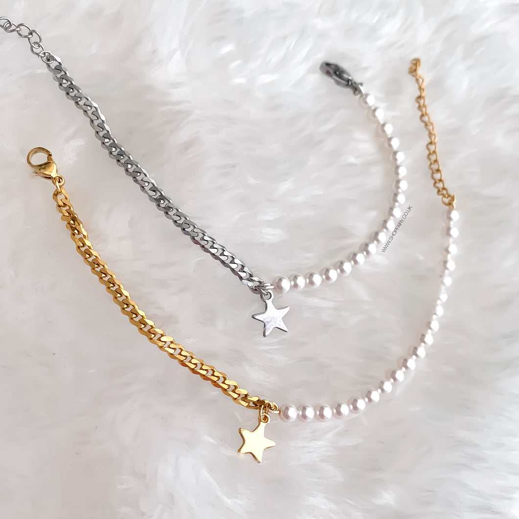 Star and Pearls Bracelet