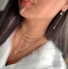 Load image into Gallery viewer, Gold Crystal Initial Necklace
