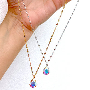 Crystal Pear Necklace