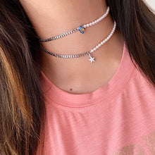 Load image into Gallery viewer, Star and Pearls Choker