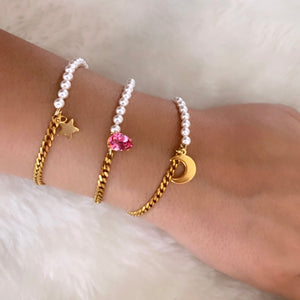 Moon and Pearls Bracelet