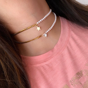 Star and Pearls Choker