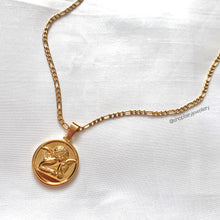 Load image into Gallery viewer, Gold Thinking Cherub Necklace