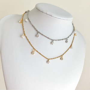 Shimmer Pearl Necklace