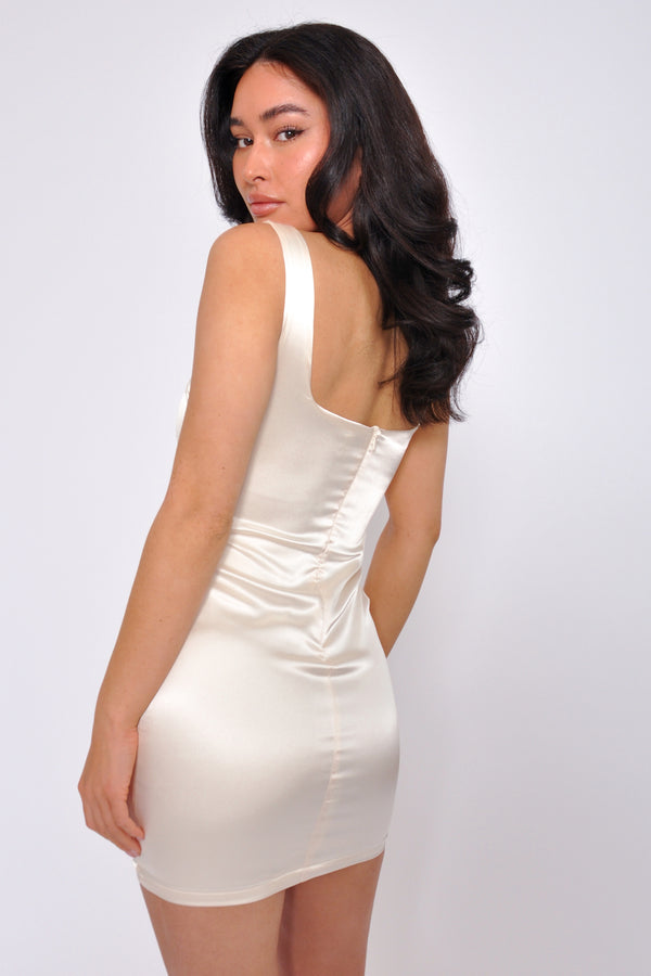 Sleeveless Ruched Side Midi Dress - M Boutique