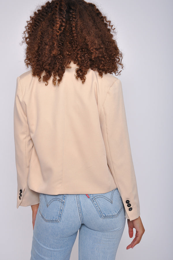 High Waist Distressed Denim Bermuda Short