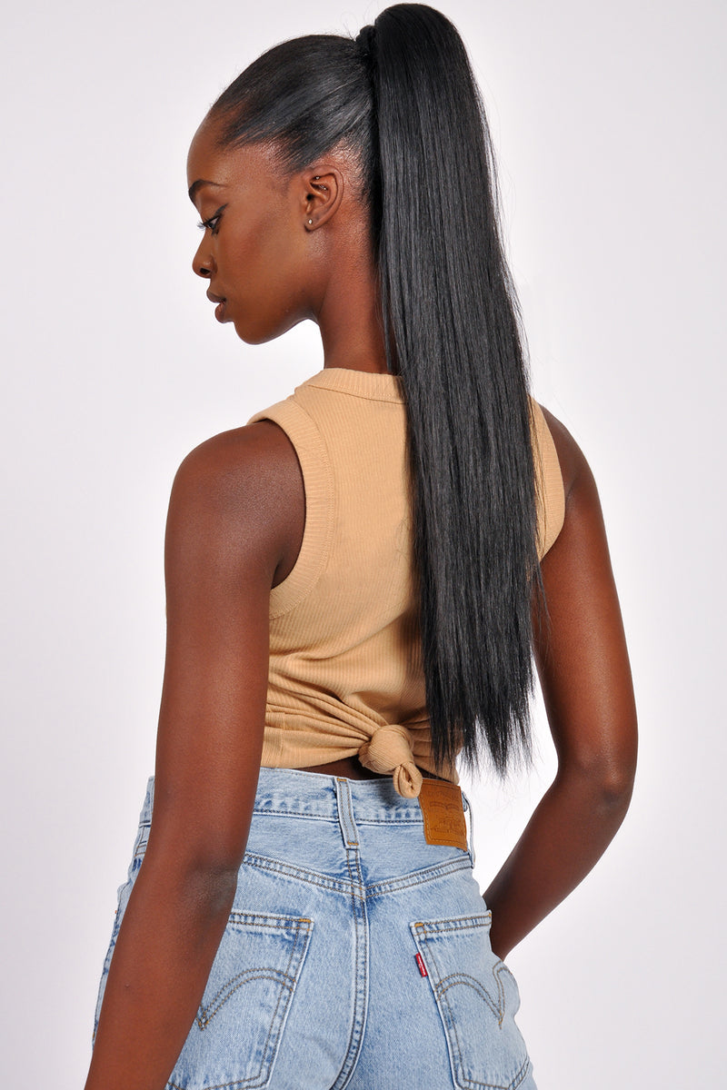 High Waist Ruched Side Bike Short - M Boutique