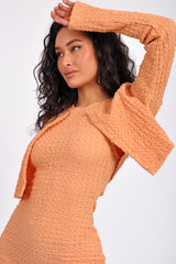 V-Neck Short Sleeve Dolman Blouse
