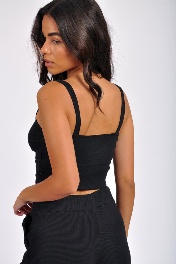 High Waist Two Pocket Elastic Bottom Jogger - M Boutique