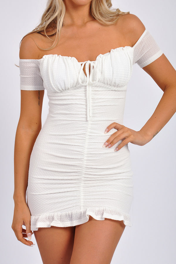 Sleeveless V Neck Knit Dress