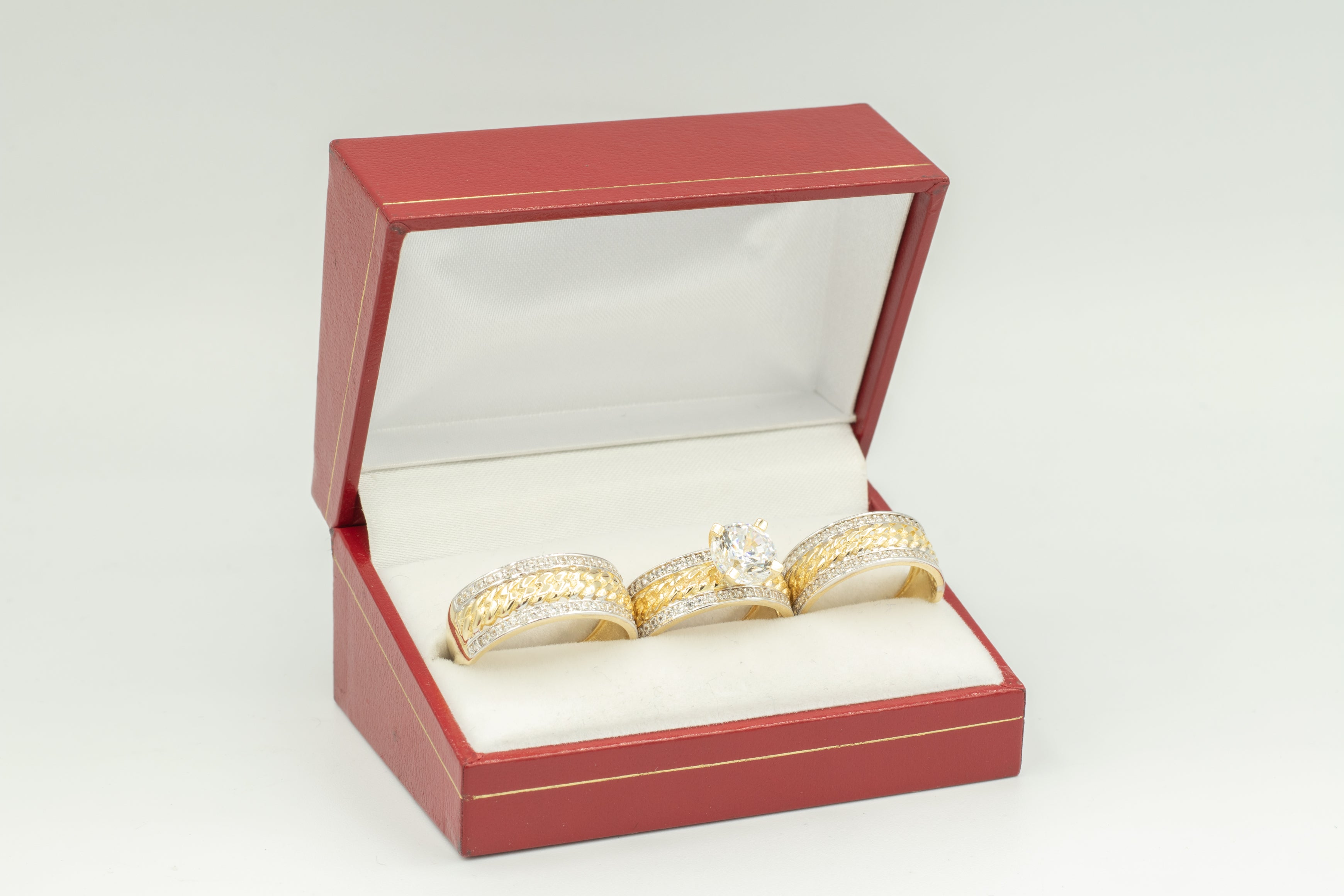 White Gold Band Wedding Rings