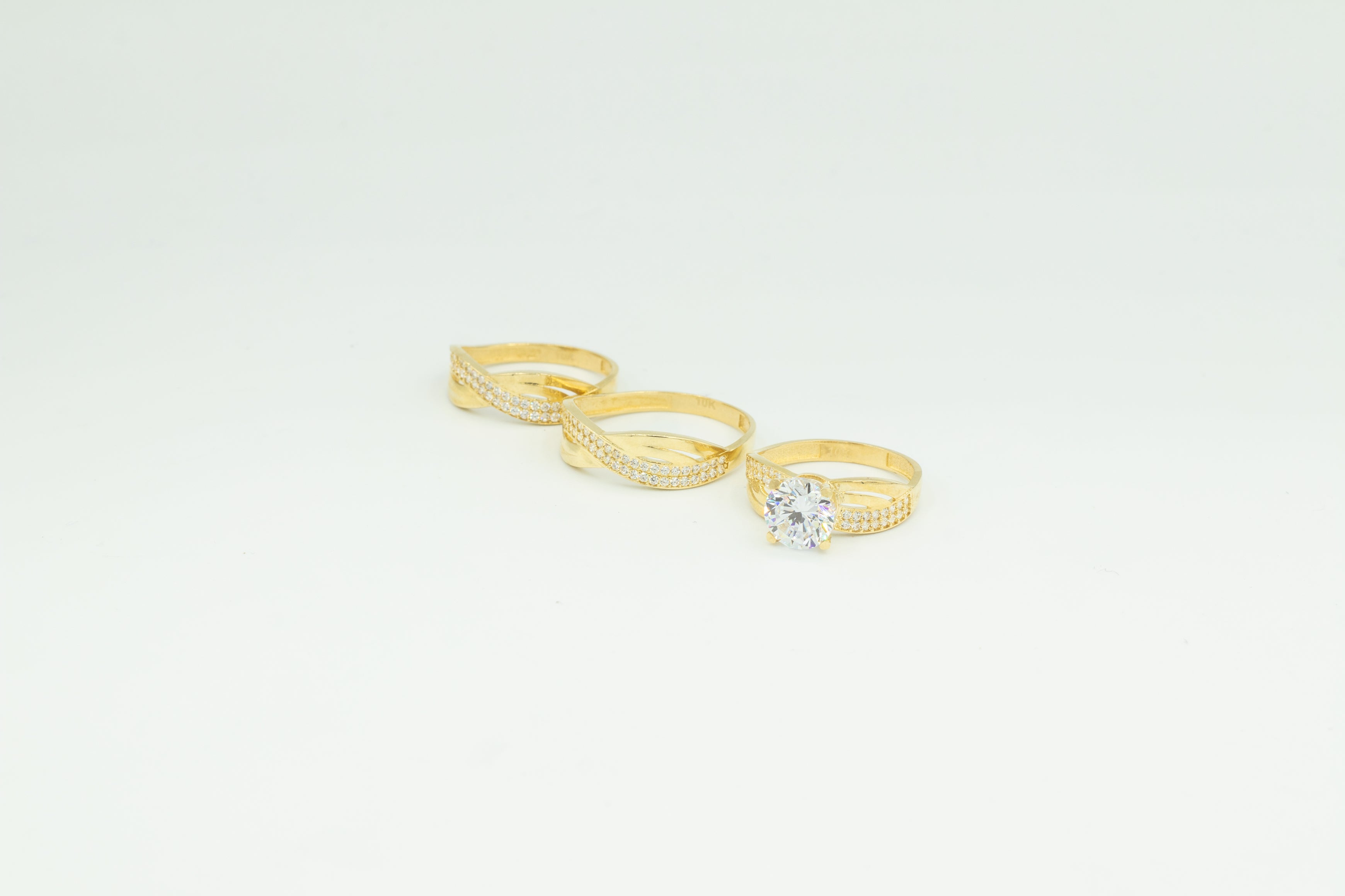 Two Band Wedding Rings Set