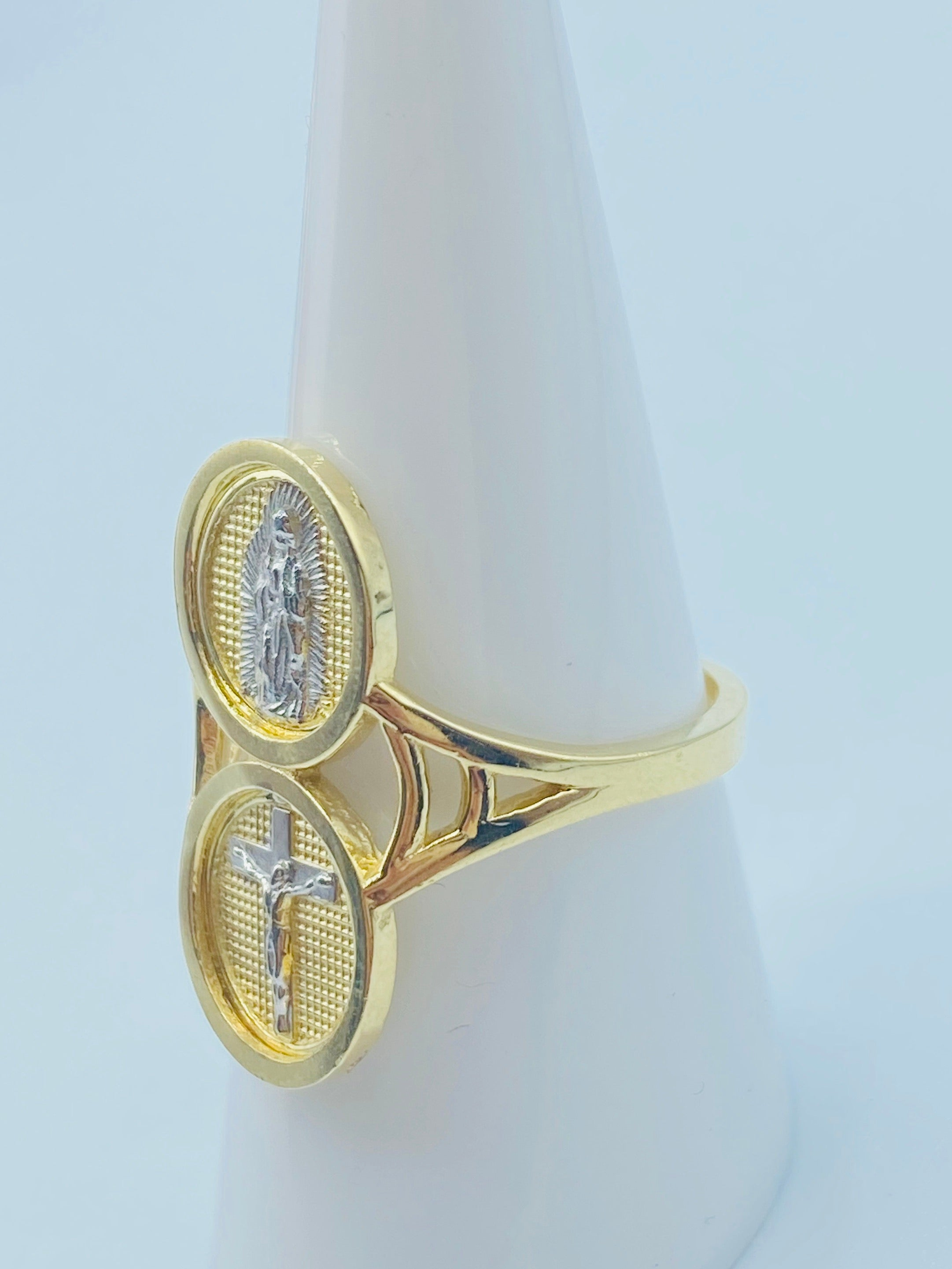 Virgen Mary & Christ Ring