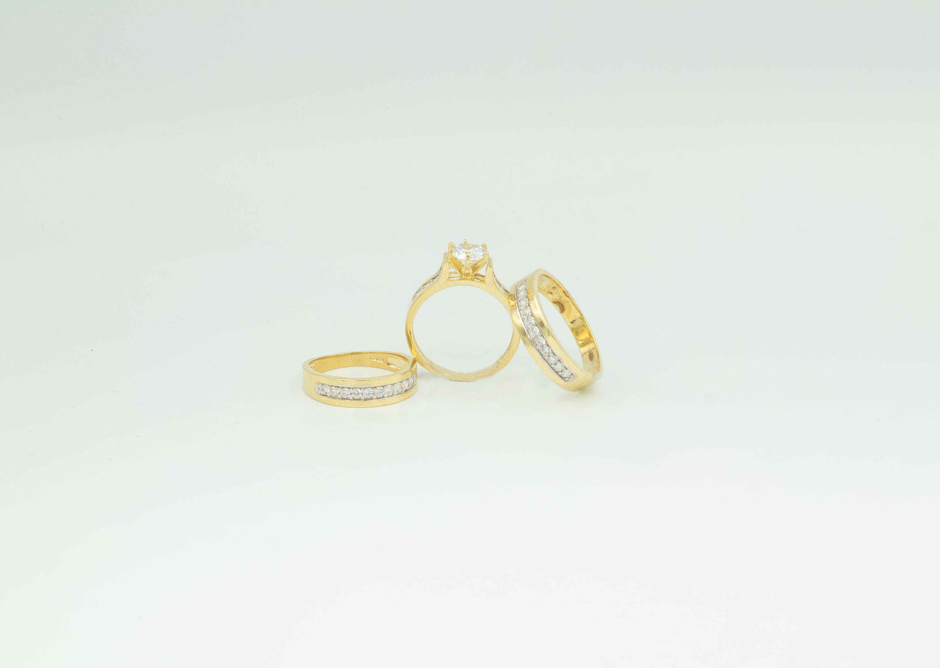 3 Piece Wedding Rings Set