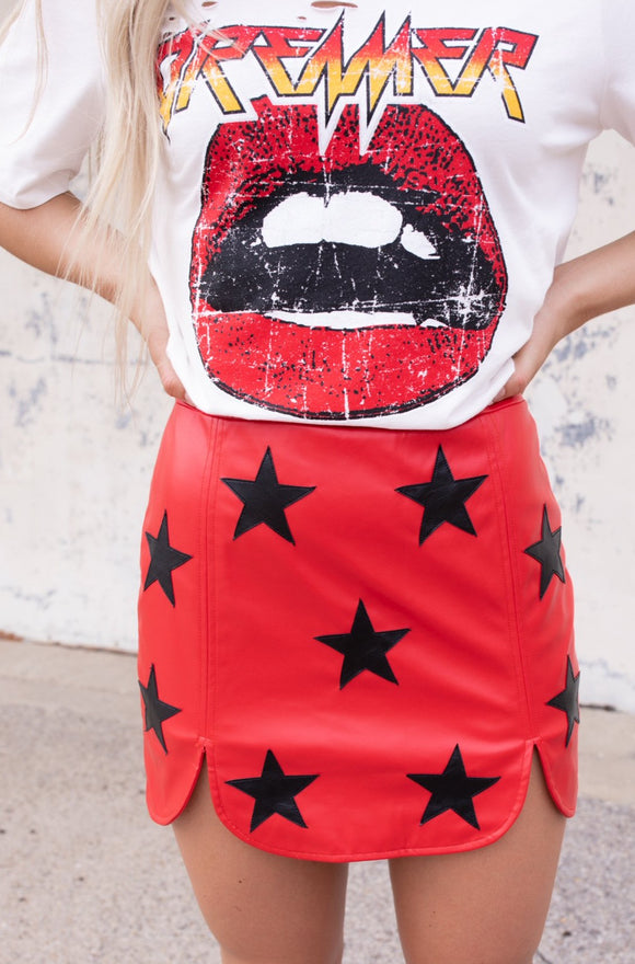 Buddy Love Rockstar Mini Skirt