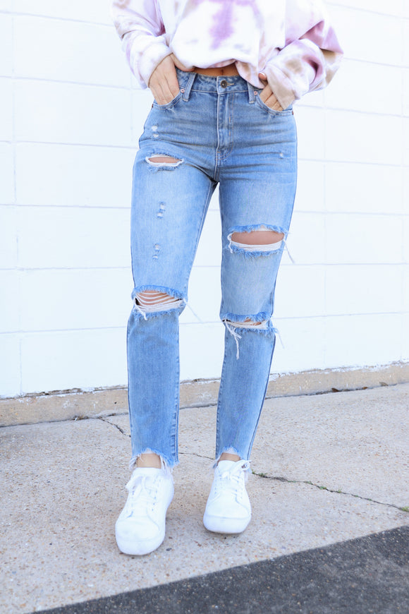 High + Mighty Distressed Denims