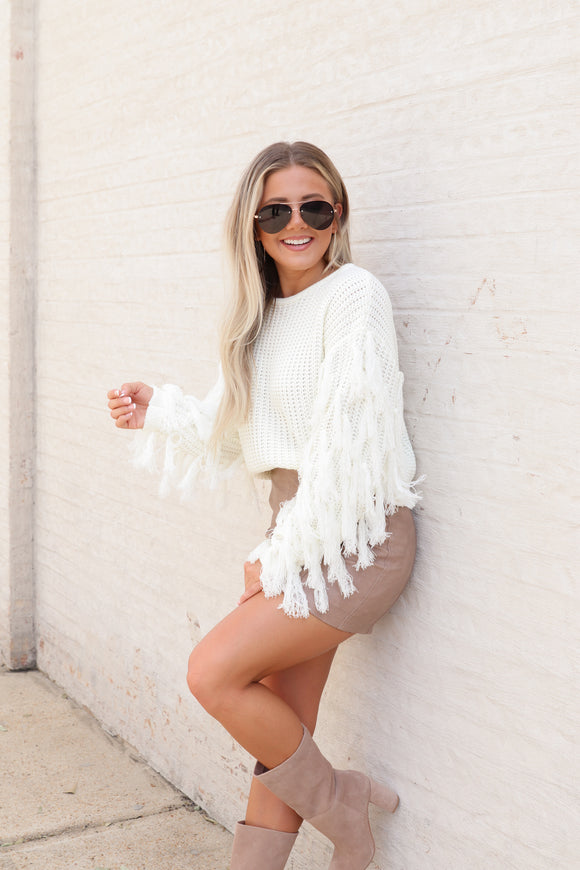 On The Fringe Sweater