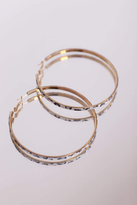 Leopard Sparkle Hoops