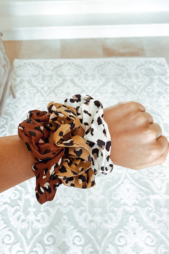 Leopard Scrunchie Pack
