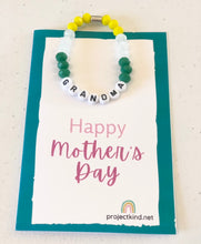 "Load image into Gallery viewer, Mother's Day Bracelet ""Bling"" and Card"