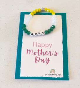 "Mother's Day Bracelet ""Bling"" and Card"