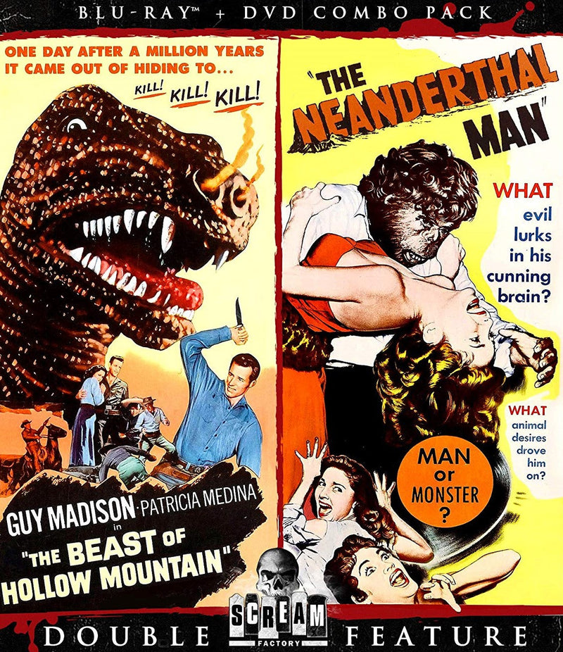 THE BEAST OF HOLLOW MOUNTAIN / THE NEANDERTHAL MAN BLU-RAY