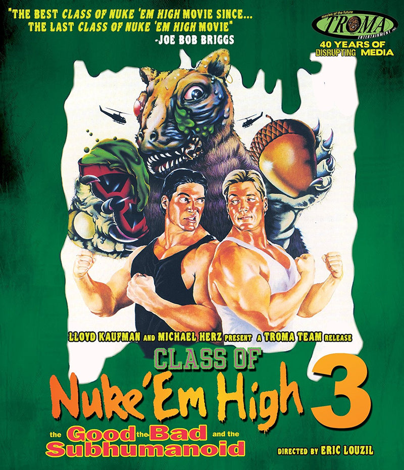 CLASS OF NUKE EM HIGH 3: THE GOOD THE BAD AND THE SUBHUMANOID BLU-RAY
