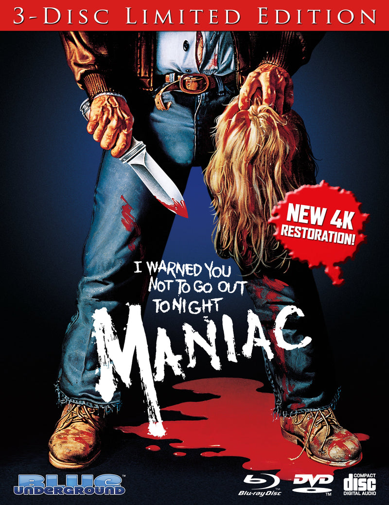 MANIAC (3-DISC LIMITED EDITION) BLU-RAY/DVD/CD