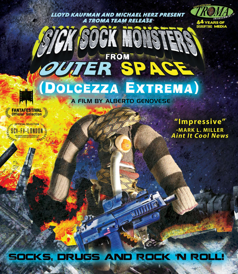 SICK SOCK MONSTERS FROM OUTER SPACE BLU-RAY