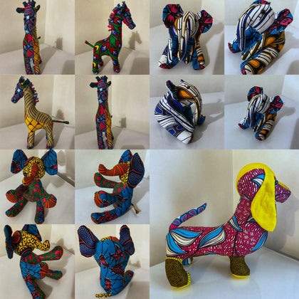 African Wax Print Animals