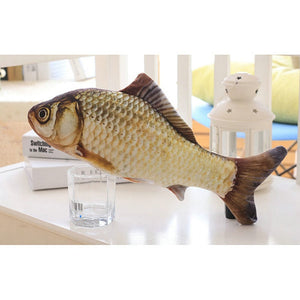 Pet Soft Plush 3D Fish Shape Cat Toy
